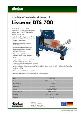 stáhněte si leták stolových pil DTS 700