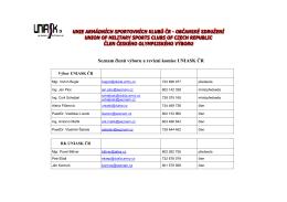 Seznam členů výboru a revizní komise UNIASK ČR