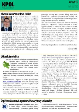 Úvodní slovo Stanislava Balíka Učitelská mobilita Úspěch u