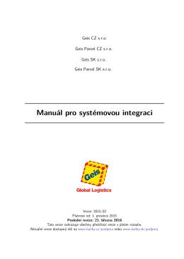 Manuál pro systémovou integraci