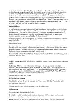 Referát č. 8 Aplikační programy, programovací jazyky, formáty