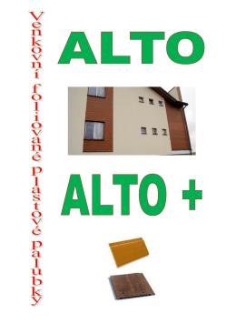 Přehled plastových palubek Alto a Alto+