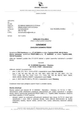 OZNÁMENÍ - Úřední deska - Stav k 12.12.2015