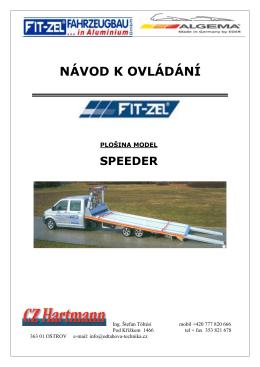 Návod k nástavbám Fitzel SPEEDER - odtahova