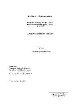 Zadávací dokumentace - Technické služby Havířov as