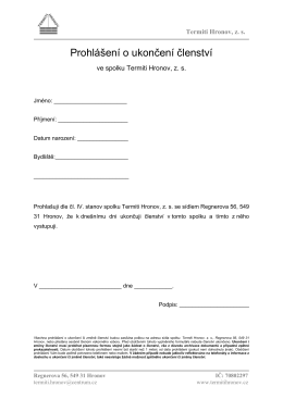 Prohlášení o ukončení členství