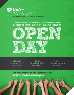 COME TO LEAF ACADEMY