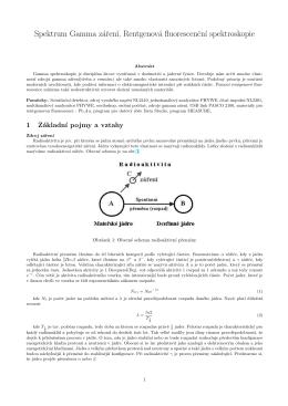 Spektrum Gamma záren´ı, Rentgenová fluorescencn´ı spektroskopie