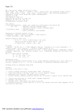 Zjednodušený popis 731