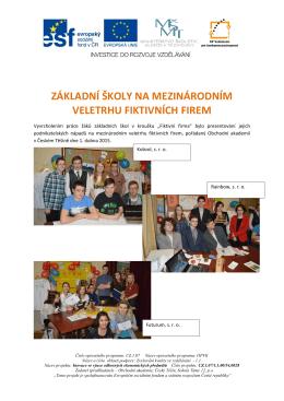 veletrh fiktivních firem - Obchodní akademie Český Těšín