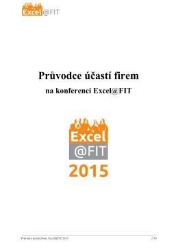 Průvodce účastí firem na konferenci Excel@FIT