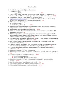 Writer-komplet2 1. Na disku U: si vytvoř následující strukturu složek