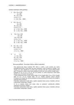 CVIČENÍ 2 – LINEÁRNÍ MODELY zdroj