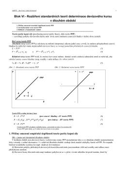 Blok VI - Rozšíření standardních teorií determinace devizového
