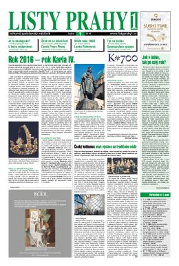 číslo 1 - Listy Prahy 1