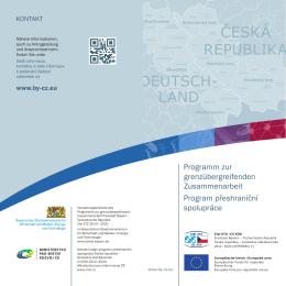 ČESKÁ REPUBLIKA DEUTSCH- LAND - Ziel ETZ 2014-2020
