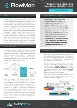 Řešení pro monitorování a bezpečnost počítačových sítí