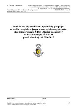 Název dokumentu - FS VŠB - Vysoká škola báňská