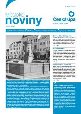 05/2015 Květen - Městské noviny Česká Lípa