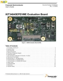 KT34845UG, KIT34845EPEVME Evaluation Board