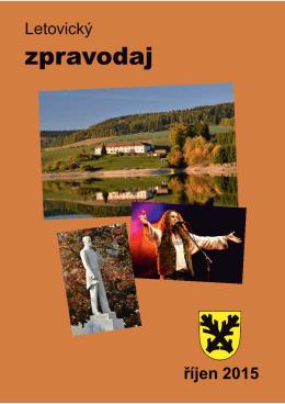 Říjen 2015 - Městské kulturní středisko Letovice