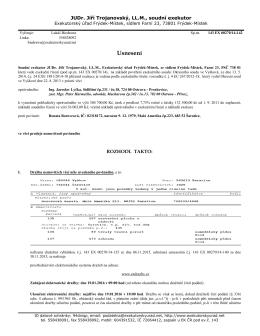 znovunařízení dražby RD Šaratice č.p. 223