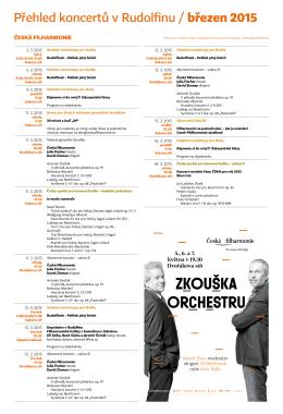 březen 2015 - Česká filharmonie