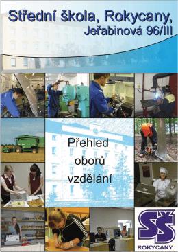 Přehled oborů vzdělávání - Střední škola, Rokycany, Jeřabinová 96/III