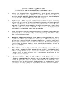 Postup při pokládání a vyspárování dlažby (v souladu s