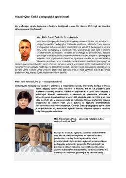 Hlavní výbor České pedagogické společnosti