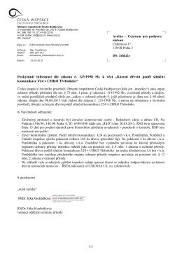 závěr kontrolního zjištění z 15. 4. 2015