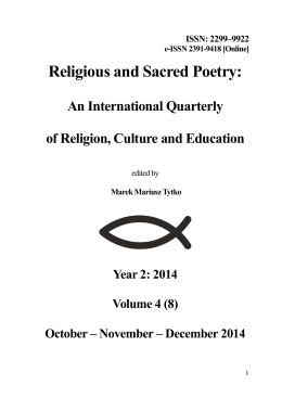 4/2014 - Religious and Sacred Poetry