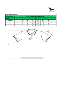 Commodity Code New Poloshirt Pique Polo 200 203
