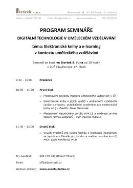 zápis semináře - informační portál pro ZUŠ