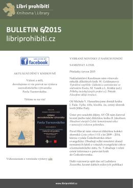 Bulletin 2015/06 - Libri prohibiti