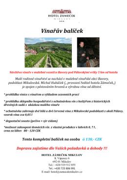 Vinařův balíček