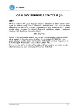 OBALOVÝ SOUBOR P 200 TYP B (U)