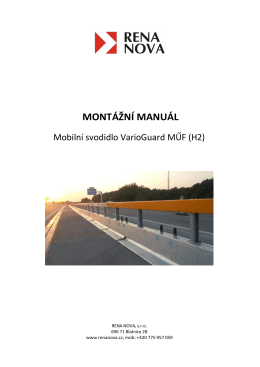 Montážní manuál - VarioGuard MUF