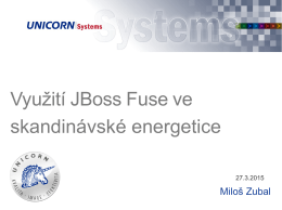 Využití JBoss Fuse ve skandinávské energetice