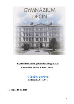 VZ_2014_15 - Gymnázium Děčín