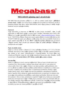 Megabass 2015 - Rybáři Moravský Krumlov