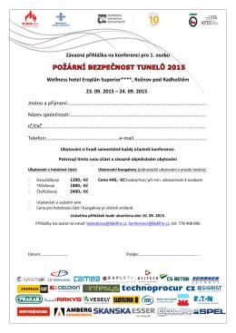 Závazná přihláška na konferenci pro 1. osobu