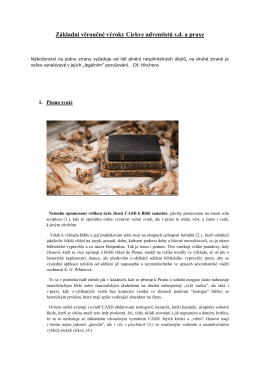 Základní věroučné výroky církve adventistů-komplet