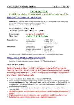 Propozice závodu ke stažení ZDE112.43 KB