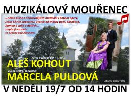 Muzikálový Mouřenec - neděle 19. 7. od 14.00