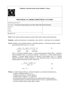 Laboratorní cvičení č - Základní škola a mateřská škola Josefa