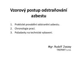 Vzorový postup odstraňování azbestu