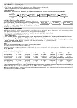 RAYTRONIC C15 – firmware V1.13 Postup při aktualizaci firmwaru