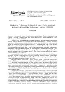 Změny využívání krajiny České republiky. Soubor map v