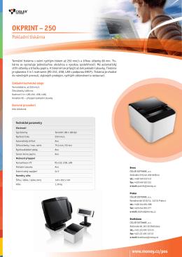 OKPRINT – 250 - Cígler software, a.s.